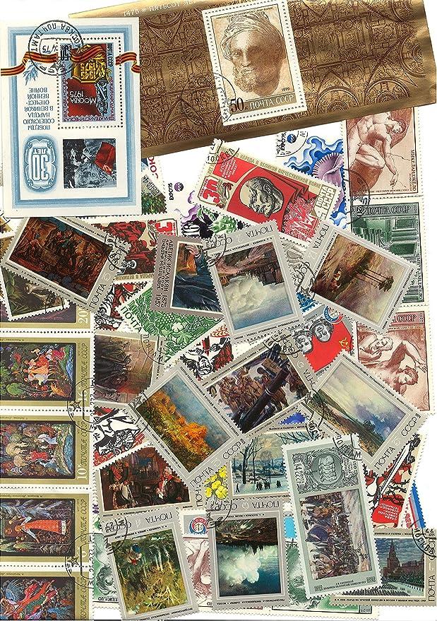 PHILATEMA URSS AÑO Completo 1975 Sello Postal Sellos para coleccionistas: Amazon.es: Juguetes y juegos