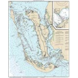Sanibel Island & Pine Island 2015 Nautical Map Florida - Custom Print 80000 11426 - Reprint