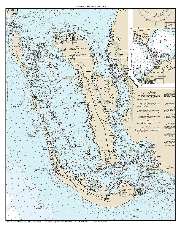 Amazon.com: Sanibel Island & Pine Island 2015 Nautical Map ...