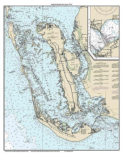 Amazon Com Sanibel Island Pine Island 2015 Nautical Map Florida