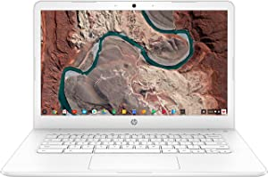 Newest HP 14-inch Chromebook HD SVA (1366 x 768) Touchscreen, Intel Dual Core Celeron N3350 1.1GHz, 4GB DD3L RAM, 16GB eMMc Hard Drive, Bluetooth, HDMI, Stereo Speakers, HD Webcam, Google Chrome OS