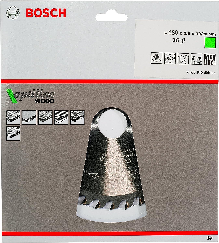 Bosch Professional Kreiss/ägeblatt Optiline Wood f/ür Holz, 130 x 20 x 2,4 mm, 12 Z/ähne, Zubeh/ör Kreiss/äge