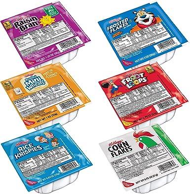 Kelloggs Cereal Family Variety Pack, Single Serve Bowls, (Pack of 96): Amazon.es: Alimentación y bebidas