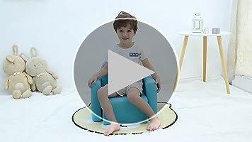 Emall Life Sillón para niños Multifuncional, Silla y Mesa para niños/Taburete con una Sonrisa Divertida para niños y niñas(Azul)