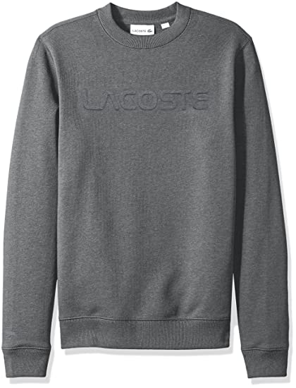ce1677459 Lacoste Men s Graphic French Terry Sweatshirt with Embossed Word at ...
