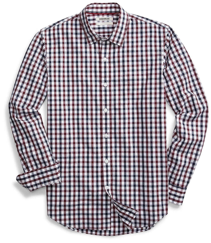 Goodthreads Men's Standard-Fit Long-Sleeve Checked Shirt F16GT25009