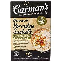 Carman's Gourmet Porridge Sachets Natural 5 Grain & Super Seed, 8-Pack (320g)