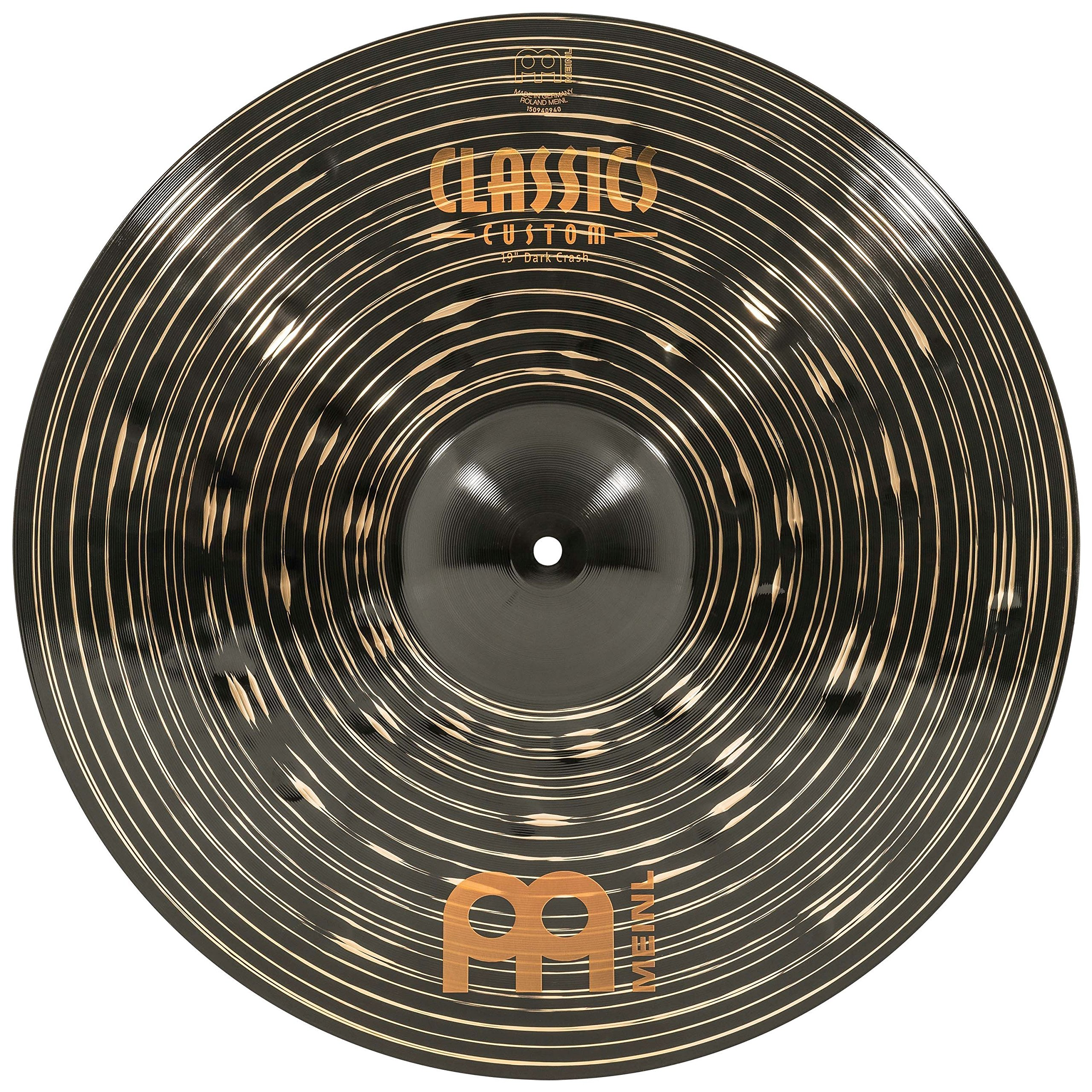 Meinl 19'' Crash Cymbal - Classics Custom Dark - Made in Germany, 2-YEAR WARRANTY (CC19DAC) by Meinl Cymbals