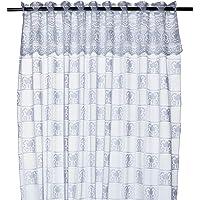 Cortina de Cozinha Lepper Mari Branco 1.20mx1.30mx20cm Pacote de 2 Poliéster
