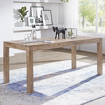 finebuy esstisch massivholz akazie 120 x 60 x 76 cm esszimmer tisch design kuchentisch modern