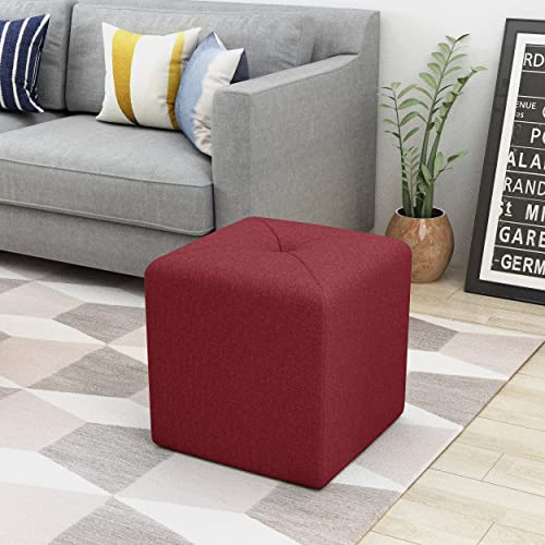 Christopher Knight Home Cayla Ottoman, Deep Red