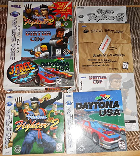 Sega Saturn 3 Free Games Promo NIB (Virtua Fighter 2/Virtua Cop/Daytona USA)