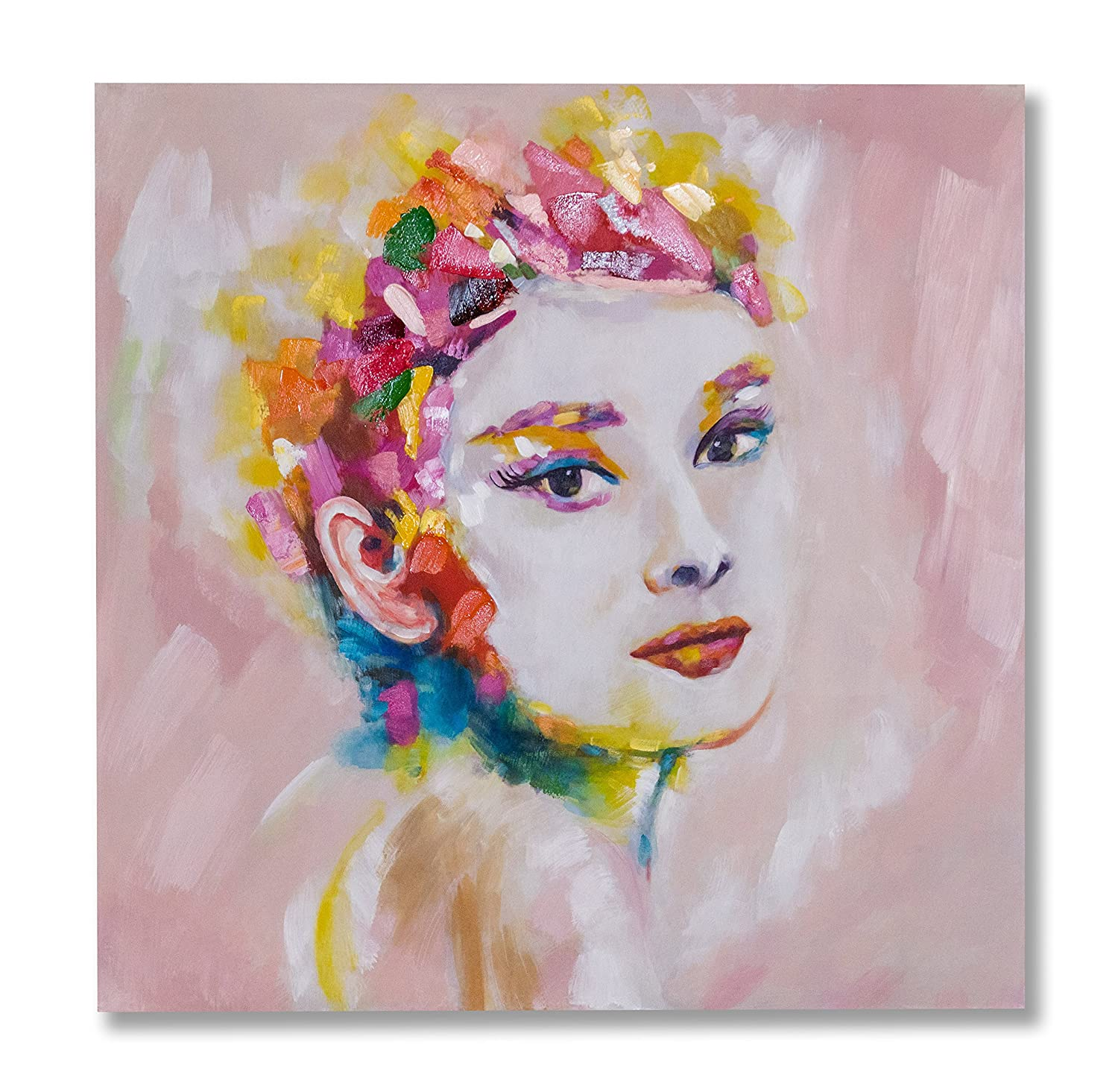 "In Liu Of Modern Oil Painting ""Classic Beauty"" (Audrey Hepburn) Hand-"