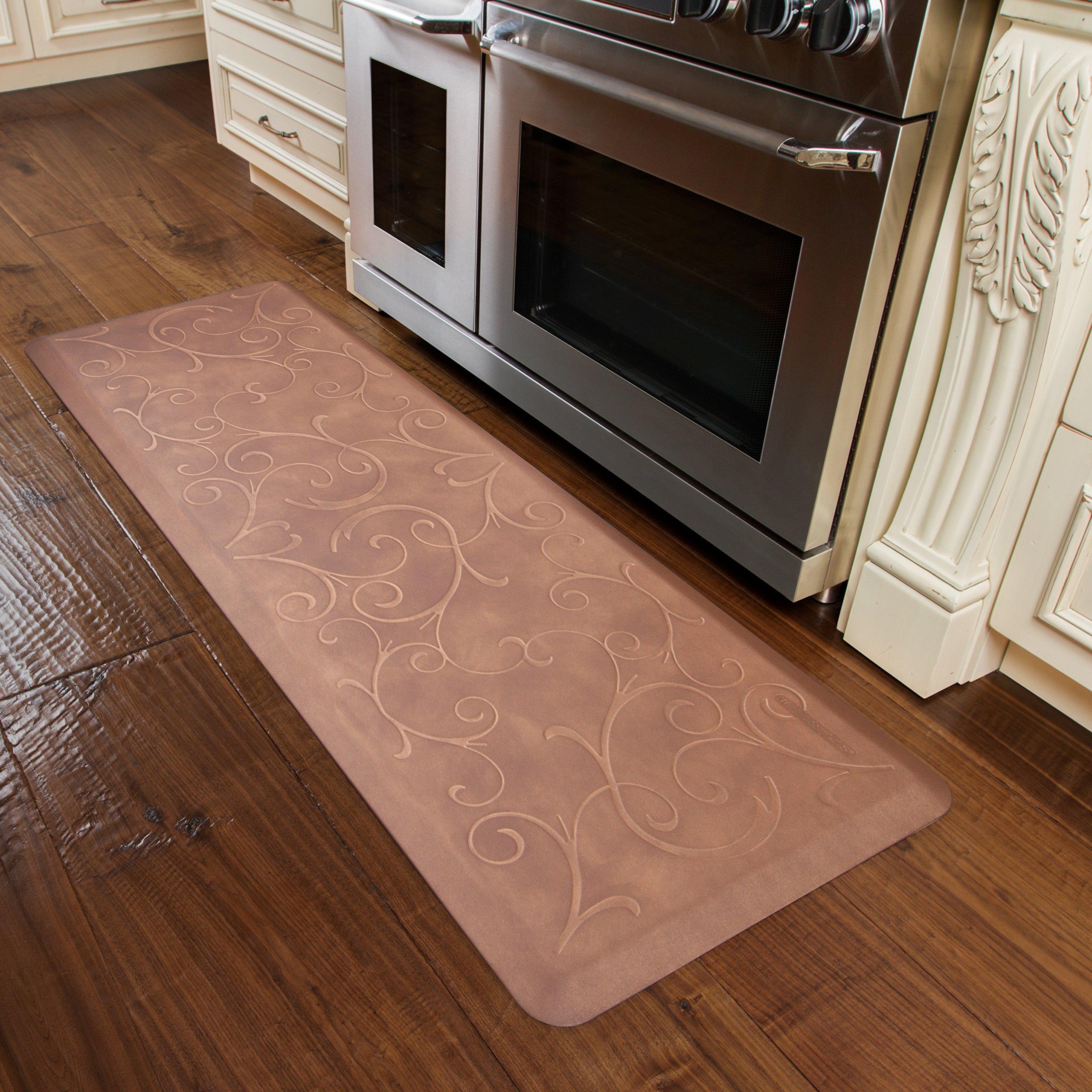 WellnessMats Estates Collection Essential Series Burnished Copper Bella 6 x 2 Foot Anti-Fatigue Mat
