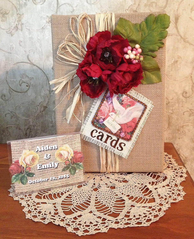 Amazon.com: Fall Rustic Handmade Shabby Chic Wedding Card Box: Handmade