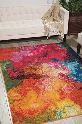 Nourison Celestial Modern Bohemian Palette Multicolored Area Rug 5 Feet 3 Inches by 7 feet 3 Inches, 5 3 x 7 3