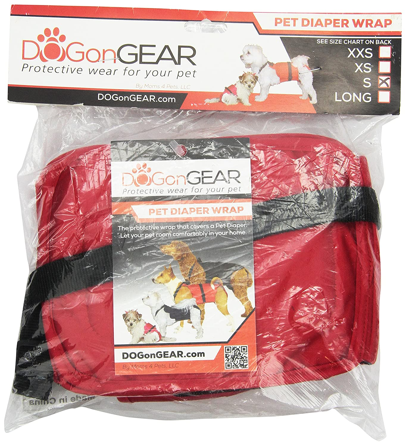 Dog Diaper Wrap Small RED