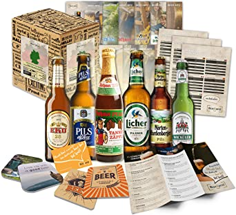 Biere del Mundo regalo cerveza Información cerveza Tapa Cerveza regalo para hombres Cumpleaños Navidad: Amazon.es: Alimentación y bebidas