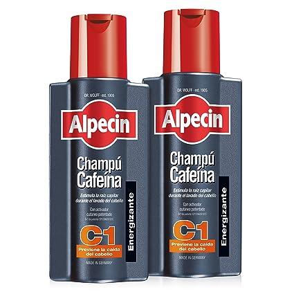 Alpecin Champú Cafeína C1, Champú anticaída - 2 x 250ml=500ml