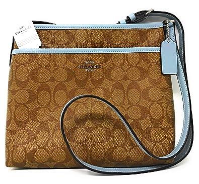 97a9fde6d55e1 New Coach C Signature Purse Crossbody Bag & Card Case 2 Piece Set Khaki  Blue: Handbags: Amazon.com