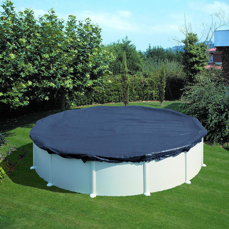 Gre CIPR651 - Bâche d'hiver pour piscine ronde de 640 cm de diamètre, couleur noire