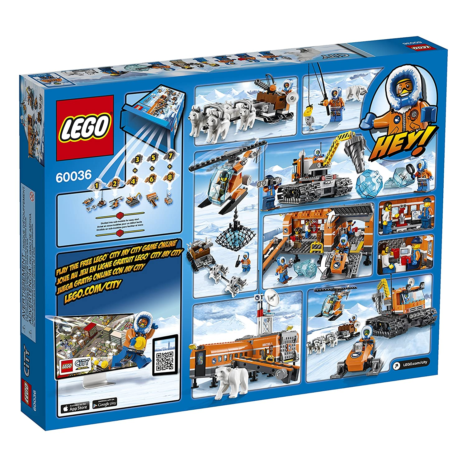 amazon.com: lego city arctic base camp 60036 building toy ... - Lego City Airplane Coloring Pages