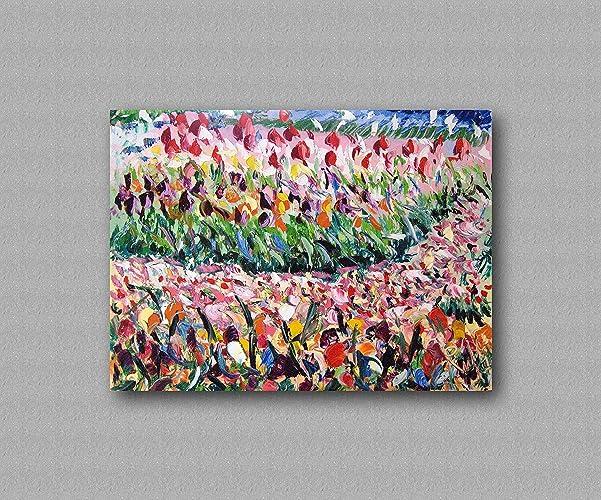 Regalo per natale quadro astratto colorato materico