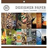 "Colorbok Designer Paper Pad, 12"" x 12"", Multicolor"