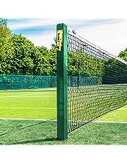 im Set: Tennis Netz mit eckigen Pfosten [Net World Sports]