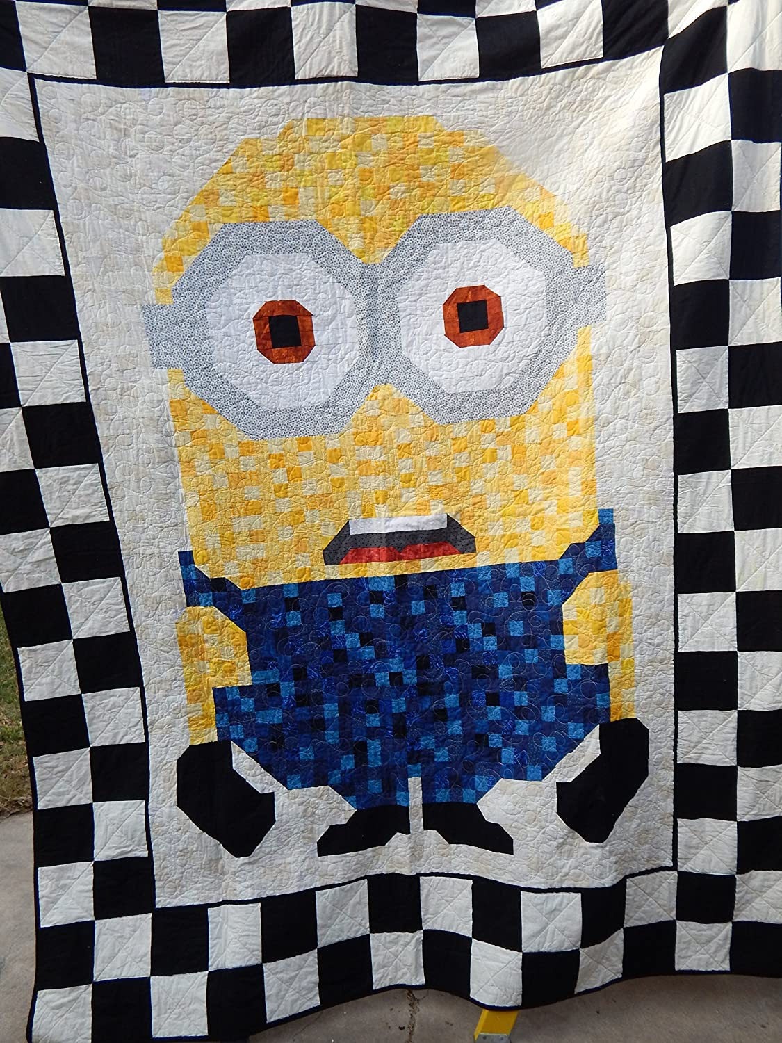 Image of Queen Size Minion Pieced Quilt Home and Kitchen