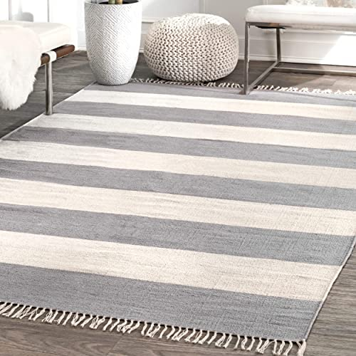 nuLOOM Ashley Striped Area Rug, 5 x 8 , Grey