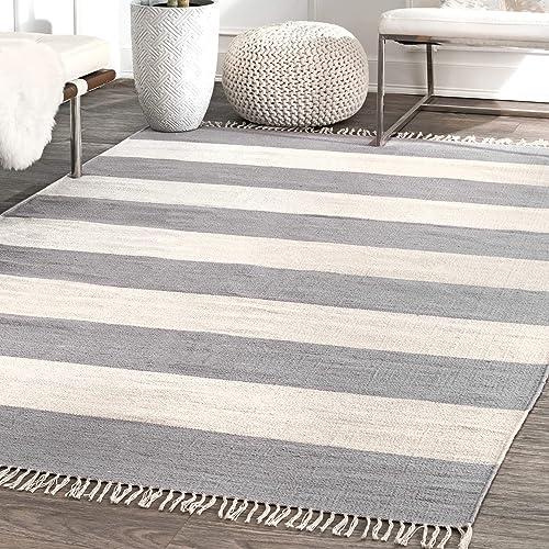 nuLOOM Ashley Striped Area Rug, 5 x 8 , Grey