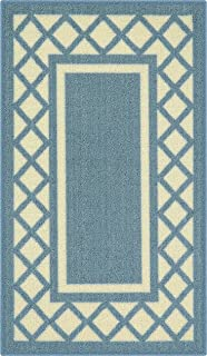 product image for Maples Rugs Bella Kitchen Rugs Non Skid Accent Area Carpet [Made in USA], 1'8 x 2'10, Blue