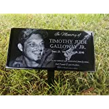 Granite Stone and Stand Marker Personalized w/ Picture of Choice/Text of Choice Animal or Person Human Temporary Marker Family