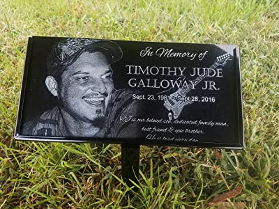 Granite Stone and Stand Marker Personalized