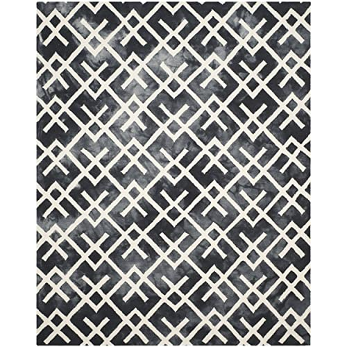 Safavieh Dip Dye Collection DDY677J Graphite and Ivory Area Rug, 9 x 12