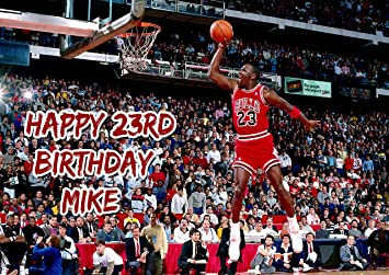 Michael Jordan Chicago Bulls Birthday Cake Personalized Topper Icing Sugar Paper A4 Sheet Edible Frosting