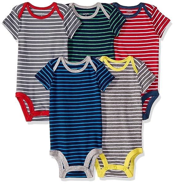 Carter\'s 126G335 Body para Bebé-Niños, Multicolor, (Paquete de 5 ...