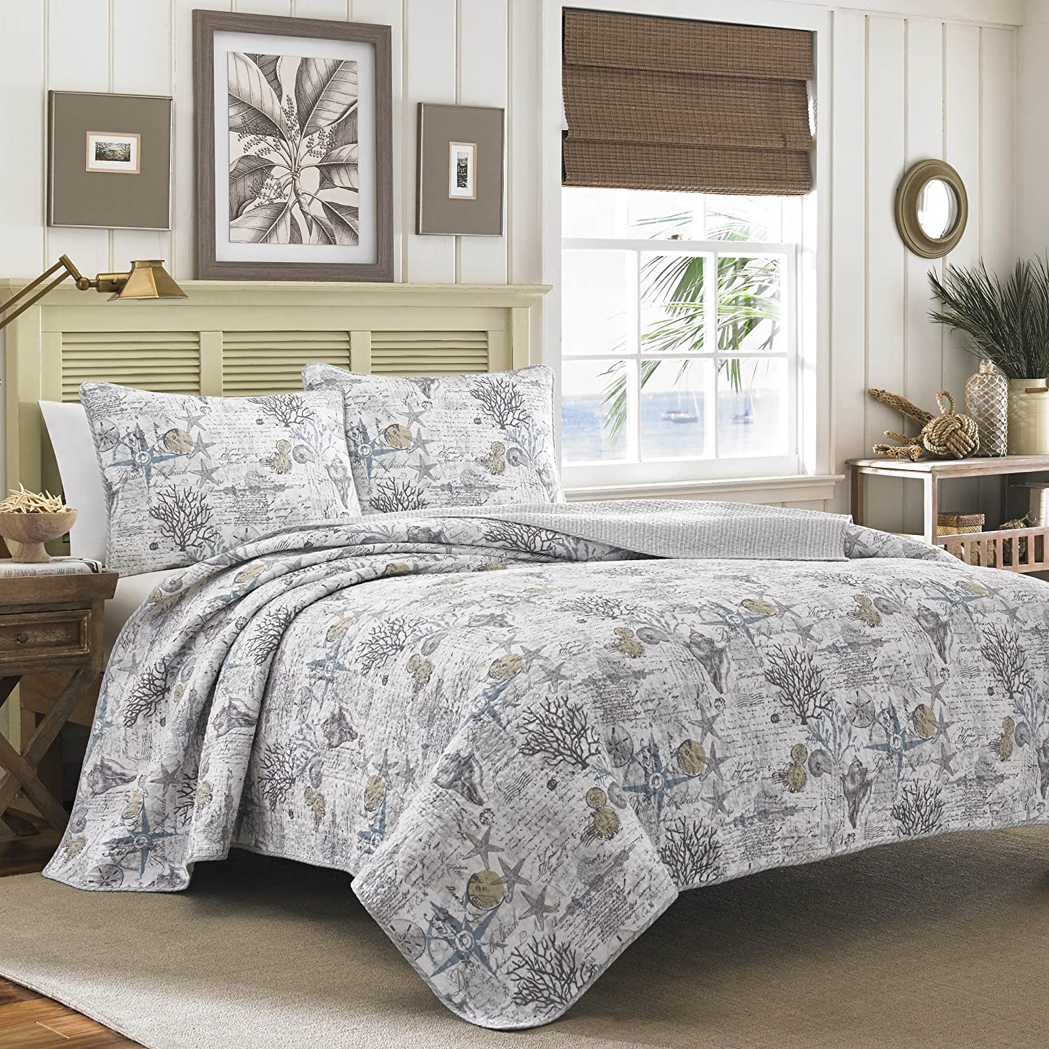 Amazon.com: Tommy Bahama Quilt Set, Full/Queen, Beach Bliss: Home U0026 Kitchen