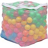"Amazon Basics BPA Free Plastic Ball Pit Balls with Storage Bag, 400 ct (2.3"" Diameter), Bright Colors"