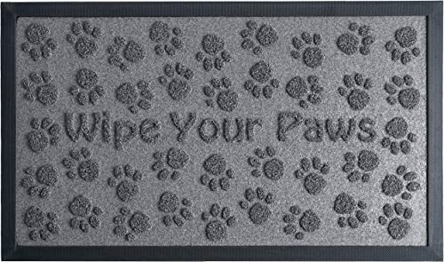 Extra Durable Door Mat Outdoor Indoor – Non-Slip Entry Door Mat 30 x 18 – Easy Clean Front Back Door mat – Rubber Doormat Outside Inside – Dog Pet Mat Rug – Waterproof Floor Mat – Entryway Rug
