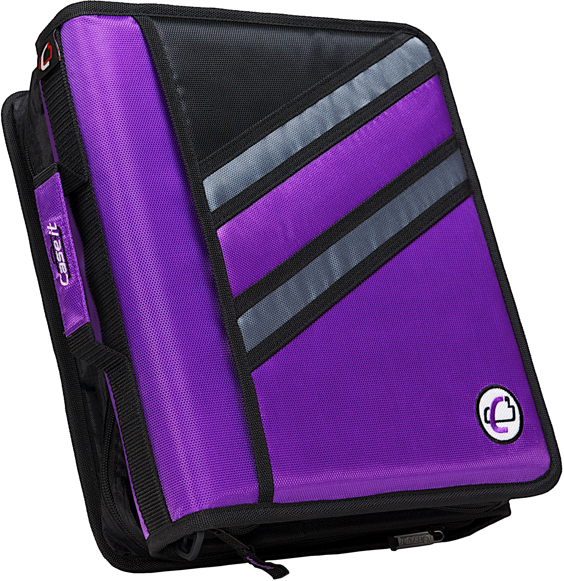 Case-it Z-Binder Two-in-One 1.5-Inch D-Ring Zipper Binders, Purple, Z-176-PUR