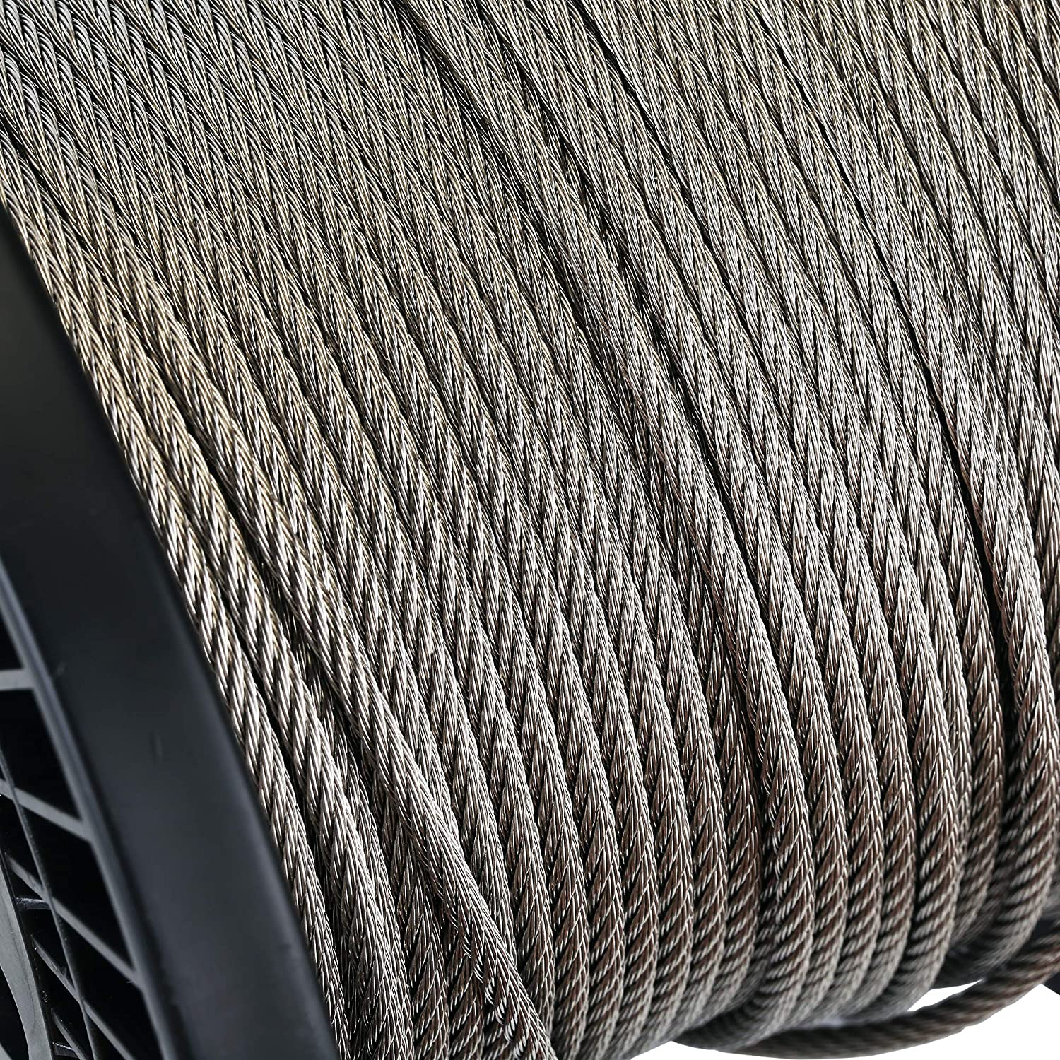 7x7 T316 Marin Grade Zoostliss 200Ft Stainless Steel Aircraft Wire Rope 1//8 for Deck Cable Railing Kit