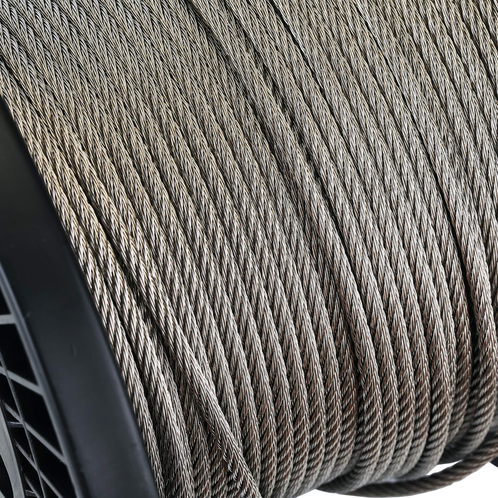 Zoostliss 200Ft Stainless Steel Aircraft Wire Rope 1/8'' for Deck Cable Railing Kit, 7x7 T316 Marin Grade by Zoostliss (Image #3)