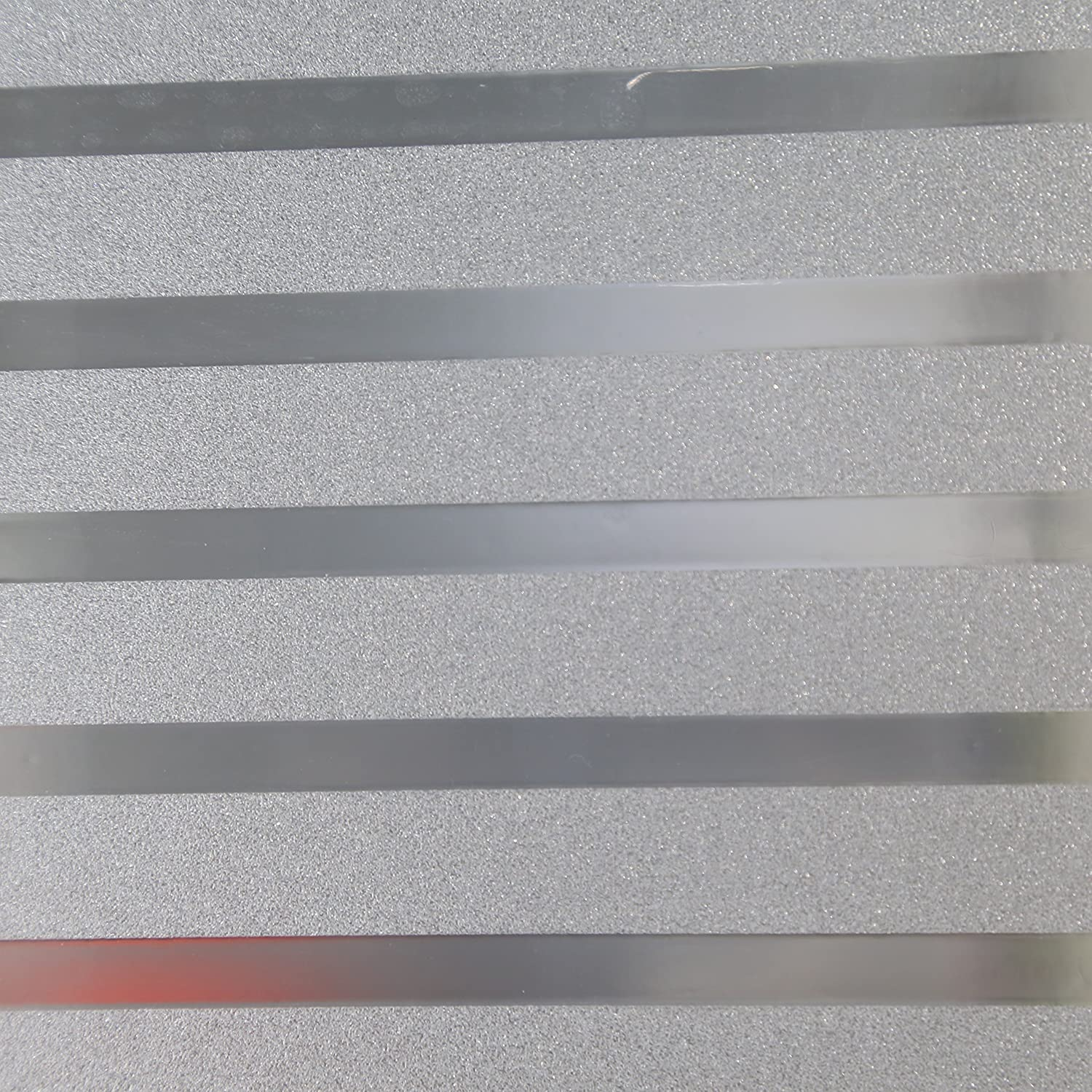 Yoyokmc 2D No Glue Static Decorative Privacy Window Films Frosted Window Film for Glass Non-Adhesive Heat Control Anti Uv for Office and Home Decoration Strip, 17.7x78.7