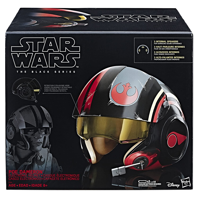 43872563379 Amazon.com  Star Wars The Black Series Poe Dameron Electronic X-Wing Pilot  Helmet  Toys   Games
