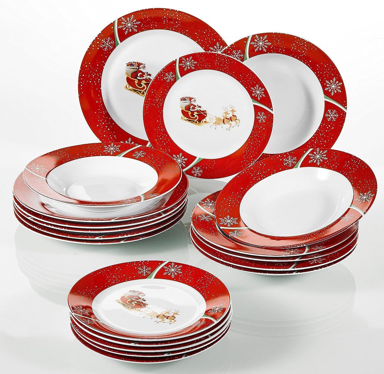 18 tlg Service Teller Porzellan FESTA ITALIA Tellern Tafelservice Porzellan