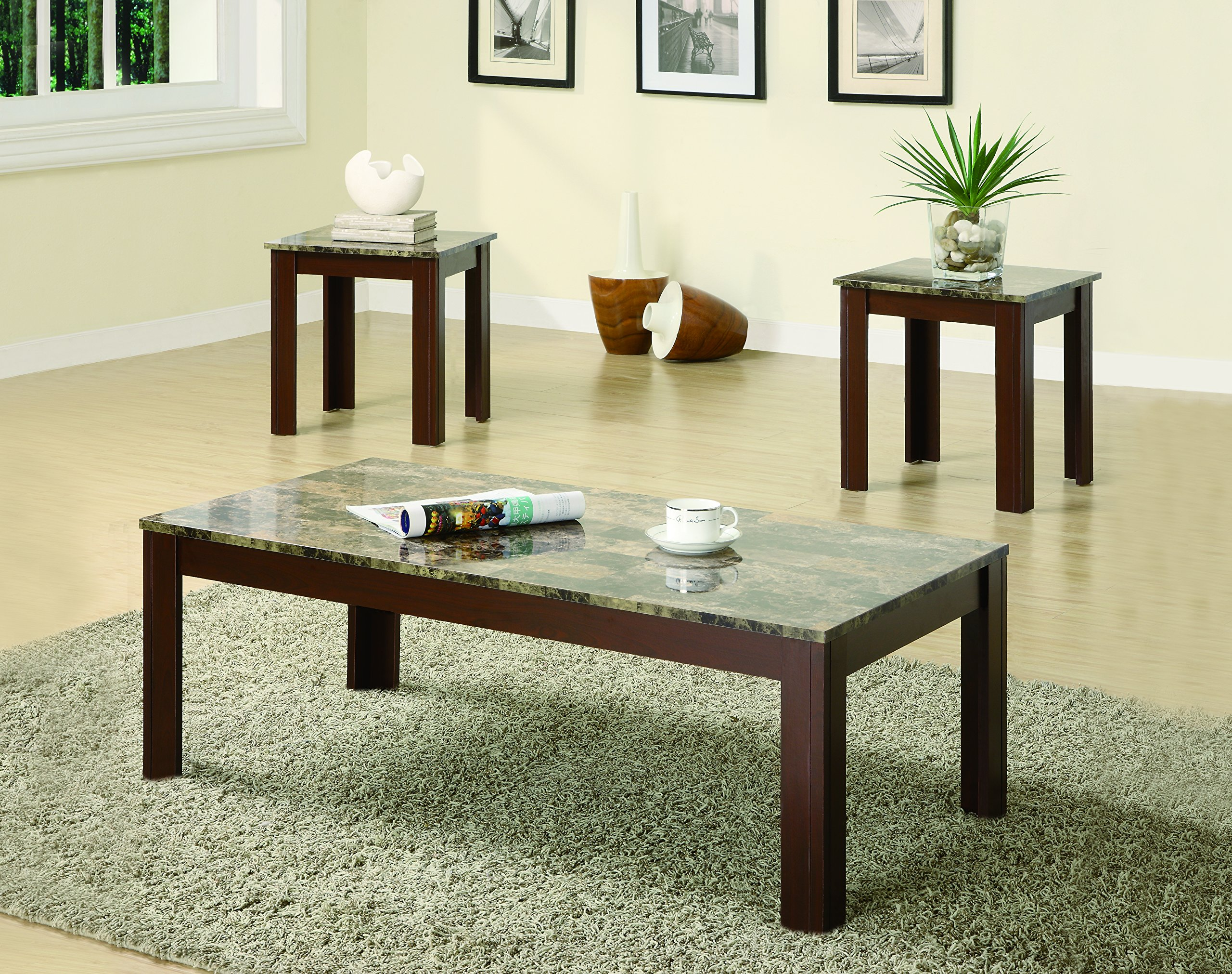 3-piece Occasional Table Set Brown by Coaster Home Furnishings