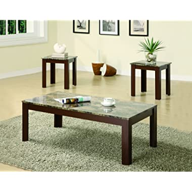 3-piece Occasional Table Set Brown