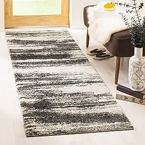"Safavieh Retro Collection RET2693-8479 Modern Abstract Dark Grey and Light Grey Runner (2'3"" x 7')"